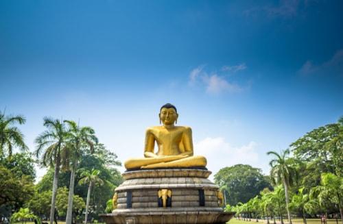 Buddha statue in Vihara Maha Devi park, Colombo, Sri Lanka