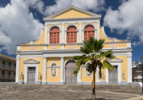 Catholic Church of St. Peter and St. Paul in Pointe-a-Pitre, capital of Guadeloupe, Caribbean