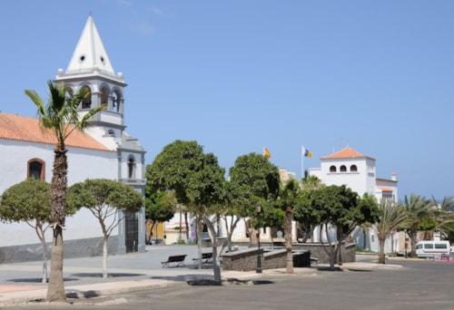 Church in Puerto del Rosario, Canary Island Fuerteventura, Spain