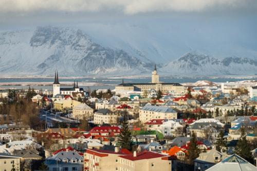Photo of Reykjavik's panorama, Iceland