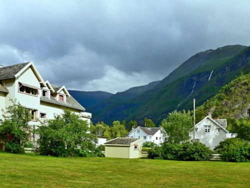 Norway-view on the town Skjolden