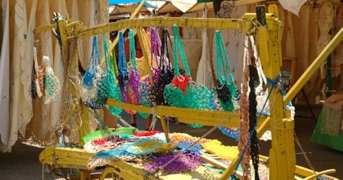 Handmade clothing sold at the market of La Valetta, Malta