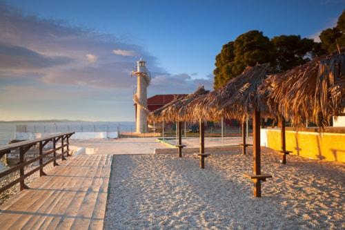 lighthouse in Zadar. Croatia.
