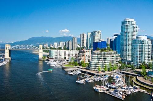 Schöne Ansicht von Vancouver